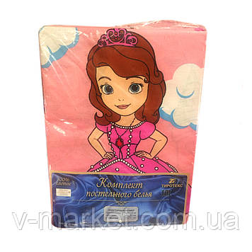 """""""Принцесса"""" полуторное постельное белье с детским рисунком, Тирасполь, Tirotex, 100% хлопок"""