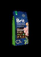 Корм Brit Premium by Nature Adult XL Сhiken для собак гигантских пород с курицей 15 кг