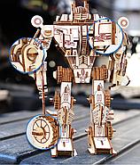 Деревянный 3D конструктор пазл трансформер Мегатрон десептикон, фото 2