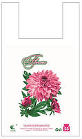 Пакет майка 30*55 Цветок 100шт/уп
