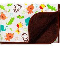 BABY ONO Мягкое двухсторонее одеяло-пледик из микрофибры коричневий 1408/02