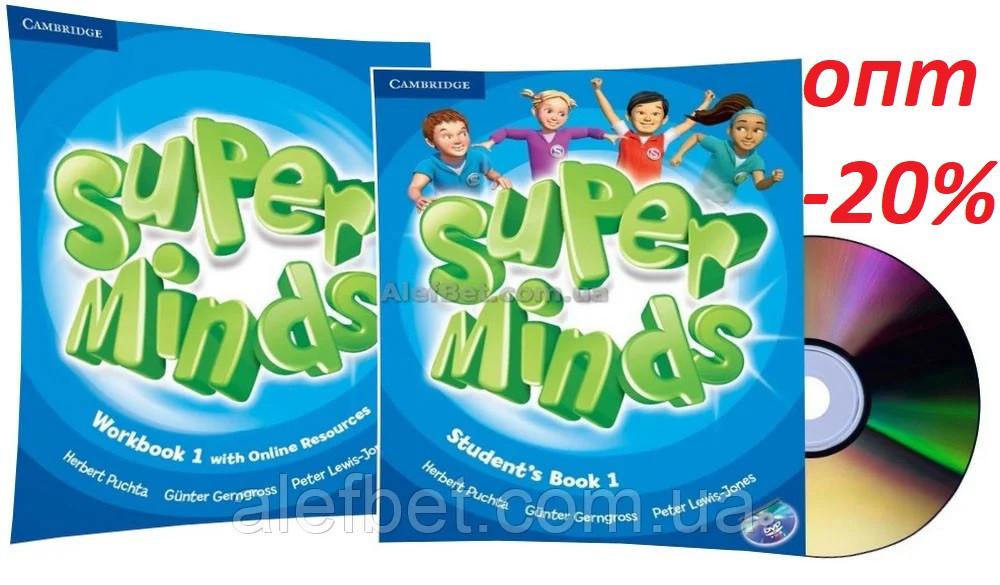 Английский язык / Super Minds / Student's+Workbook+DVD. Учебник+Тетрадь (комплект с диском), 1 / Cambridge