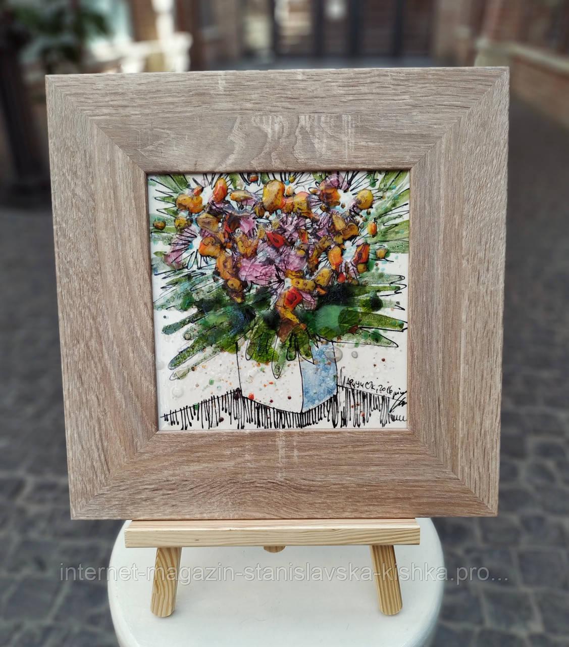 Картина склом БУКЕТ ЩИРОСТІ… кераміка живопис