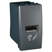 Розетка USB 2.0 Schneider Electric Unica графит (MGU3.428.12)