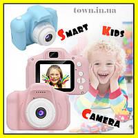 Детский цифровой фотоаппарат.Фотокамера для детей (smart kids camera) с экраном KVR-001.Розовый