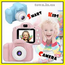 Детский цифровой фотоаппарат. Фотокамера для детей smart kids camera с экраном.Розовый