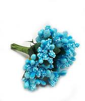 """""""Тычинки в сахаре"""" голубые, искусственных на розетке листьев (1 набор - 12 веточек )"""