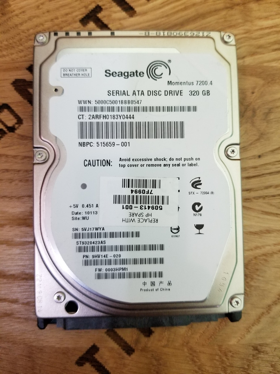 Жесткий диск для ноутбука Seagate Momentus 7200 320GB (ST9320423AS)