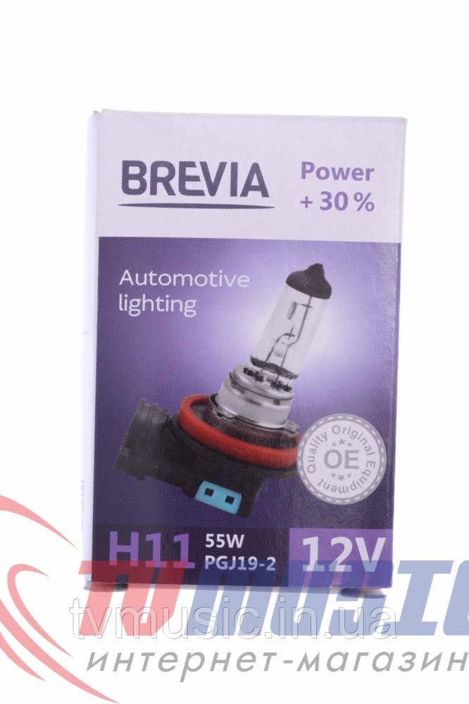 Лампа галогенная Brevia H11 +30% (12011)