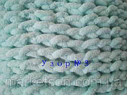 Плюшевый детский плед ручной работы вязанный из мериносовой пряжи, фото 2