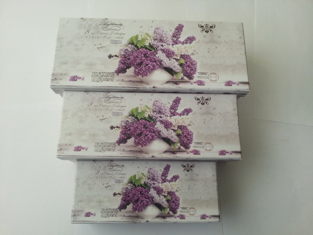 Коробка прямоугольная картонная 23.8x9x6.5cm код Украина -04301