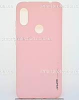 Силиконовый чехол для Xiaomi Note 6 Pro розовый SMTT Soft Touch