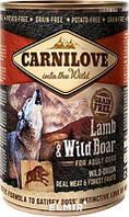 Carnilove Dog k 400 g с ягненком и кабаном
