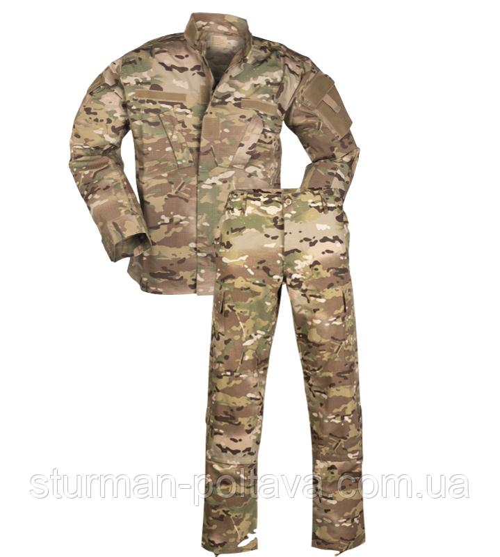 Костюм камуфляжный  армейский полевой ACU мультикам multicam   MULTITARN®   Rip-Stop  хлопок  Teesar  Германия
