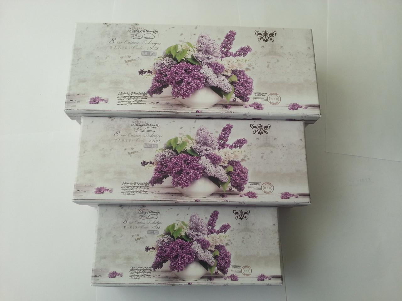 Коробка прямоугольная картонная 26.8x10.8x7.5cm код (04295)