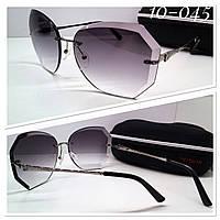 Солнцезащитные женские очки льдинки серые с футляром высокого качества ТУРЦИЯ
