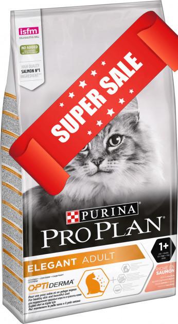 Сухой корм для котов Purina Pro Plan Elegant Adult Salmon 10 кг