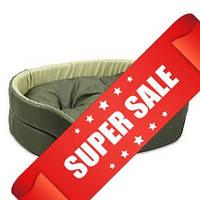 Лежак для собак Природа Омега, хаки/оливка, 55х43х15 см