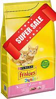 Сухой корм для котов Purina Friskies Junior с курицей, молоком и овощами 300 г