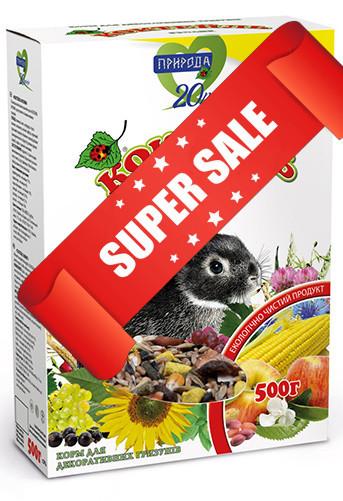 Корм для декоративных кроликов Природа Коктейль Кролик 500 г