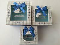 "Коробка квадратная картонная ""I love you"" 12x12x6cm код (04304)"