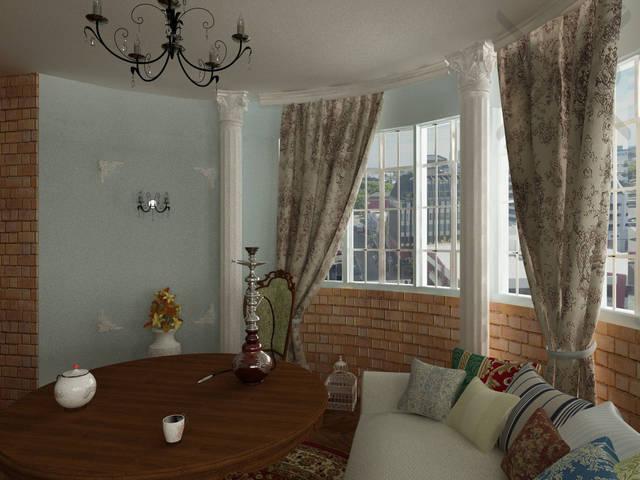 Классическая укладка паркета елочкой и мебель создают ощущение дворцовой роскоши.