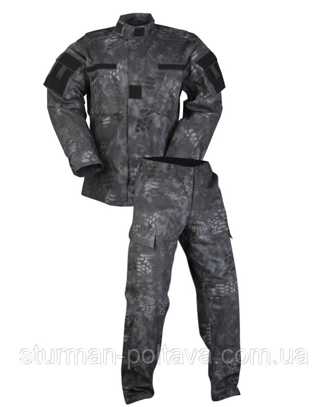 Костюм MiL -Tec армійський чорний ACU, MANDRA NIGHT Rip Stop, Німеччина