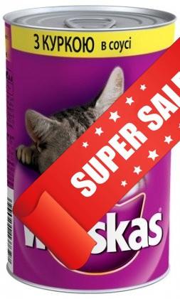 Консерва для кошек Whiskas с курицей в соусе 400 г