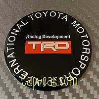 Наклейки для дисков с эмблемой TRD Toyota. (  ТРД Тойота ) Цена указана за комплект из 4-х штук