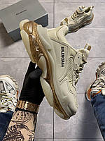 Кроссовки BALENC\AGA  Triple S Clear Sole Milk Beige..