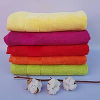 Банные махровые полотенца Радужное лето