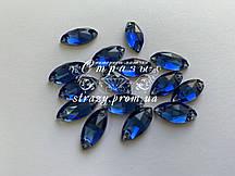 Стрази пришивні SWARO Маркіз 7*15мм. Sapphire