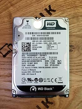 Жосткий диск для ноутбука Western Digital Black 320GB 7200rpm 16MB (WD3200BEKT)