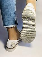 Женские кеды- кросовки. Натуральная кожа. Белые с перфорацией. 37. 40. Турция. Супер комфорт. Vellena, фото 10