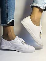 Хит! Стильные женские кеды-кроссовки белые на платформе.Натуральная кожа. Высокое качество 36 37 38 39 40, фото 3