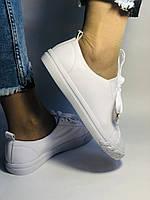 Хит! Стильные женские кеды-кроссовки белые на платформе.Натуральная кожа. Высокое качество 36 37 38 39 40, фото 4