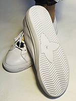 Хит! Стильные женские кеды-кроссовки белые на платформе.Натуральная кожа. Высокое качество 36 37 38 39 40, фото 10