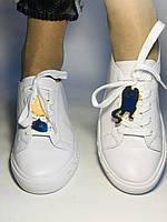 Хит! Стильные женские кеды-кроссовки белые на платформе.Натуральная кожа. Высокое качество 36 37 38 39 40, фото 2