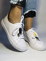 Хит! Стильные женские кеды-кроссовки белые на платформе.Натуральная кожа. Высокое качество 36 37 38 39 40, фото 6