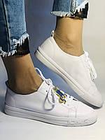 Хит! Стильные женские кеды-кроссовки белые на платформе.Натуральная кожа. Высокое качество 36 37 38 39 40, фото 5