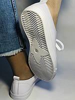 Хит! Стильные женские кеды-кроссовки белые на платформе.Натуральная кожа. Высокое качество 36 37 38 39 40, фото 8