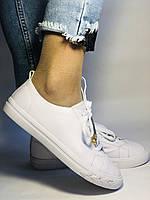 Хит! Стильные женские кеды-кроссовки белые на платформе.Натуральная кожа. Высокое качество 36 37 38 39 40, фото 7