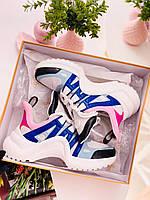 Модные женские кроссовки LOUIS VUITTON ARCHLIGHT (реплика), фото 1
