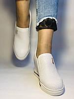 Хіт! Стильні жіночі кеди-білі кросівки.Натуральна шкіра. Розмір 39., фото 9