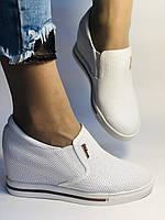 Хіт! Стильні жіночі кеди-білі кросівки.Натуральна шкіра. Розмір 39., фото 4