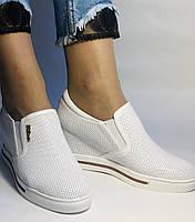 Хіт! Стильні жіночі кеди-білі кросівки.Натуральна шкіра. Розмір 39., фото 3