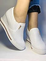 Хіт! Стильні жіночі кеди-білі кросівки.Натуральна шкіра. Розмір 39., фото 10