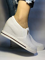 Хіт! Стильні жіночі кеди-білі кросівки.Натуральна шкіра. Розмір 39., фото 7