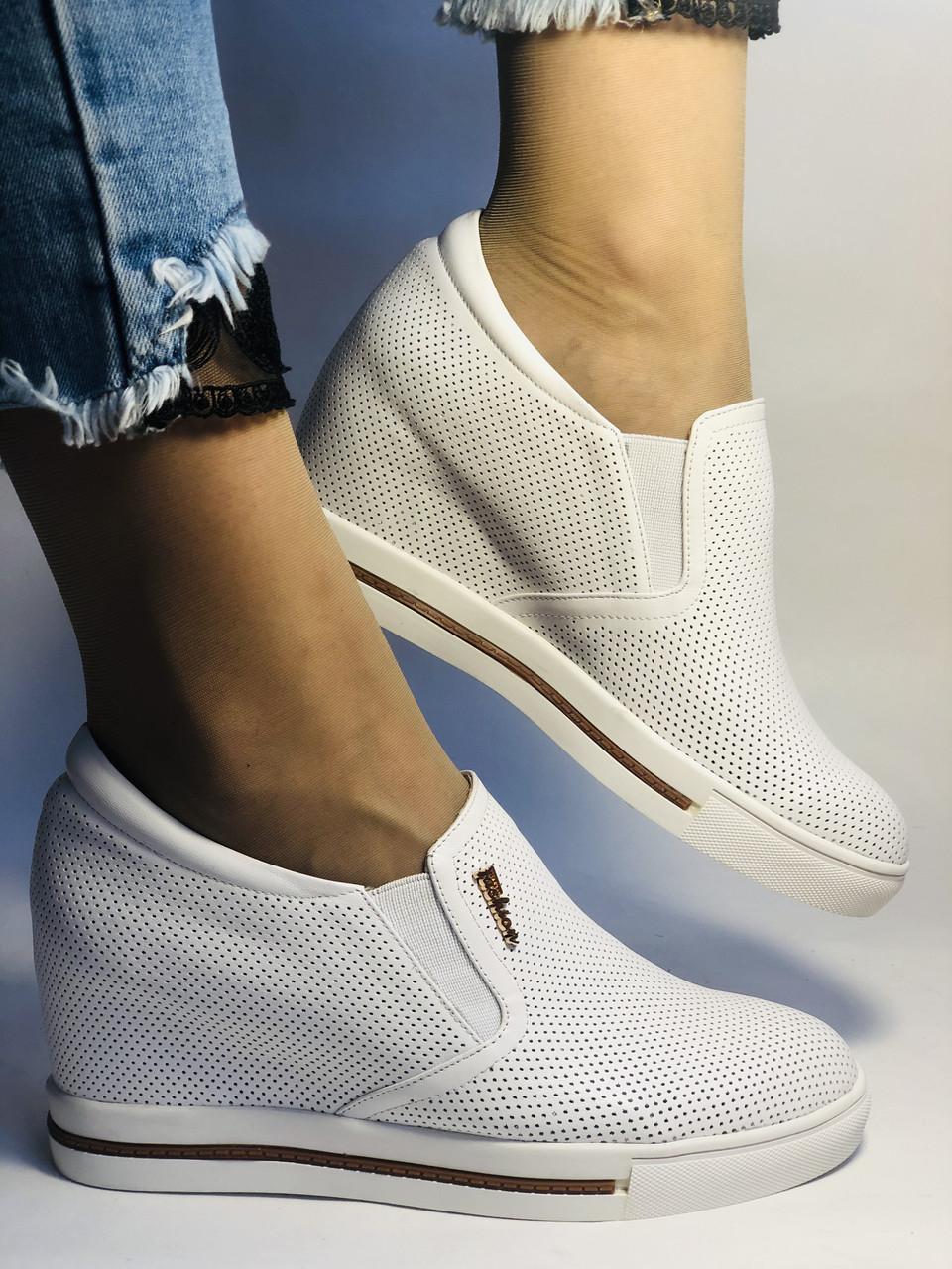 Хіт! Стильні жіночі кеди-білі кросівки.Натуральна шкіра. Розмір 39.