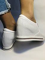 Хіт! Стильні жіночі кеди-білі кросівки.Натуральна шкіра. Розмір 39., фото 8
